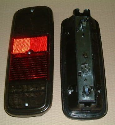 Rear light unit VW Type 2 1973 to 1979 with smoked lenses sold as a pair