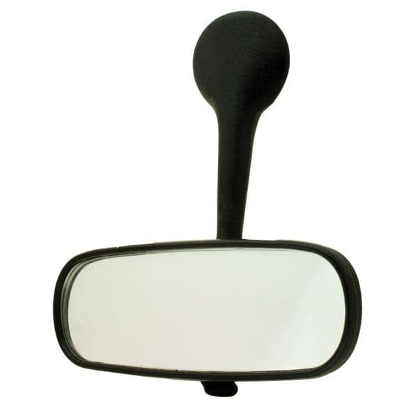 Rear View Mirror with a black stem for VW Beetle 1967 to 1979