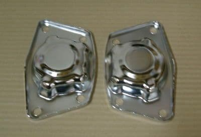 Spring plate covers in chrome pair VW Type 1 Beetle swing axle 1960-1979