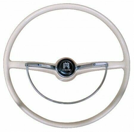 Steering Wheel Horn Push and D Ring, Silver Beige Colour for VW Beetle 1961-1974