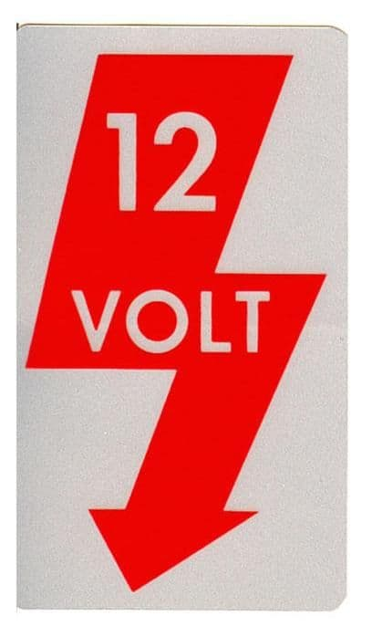 Sticker 12 volt