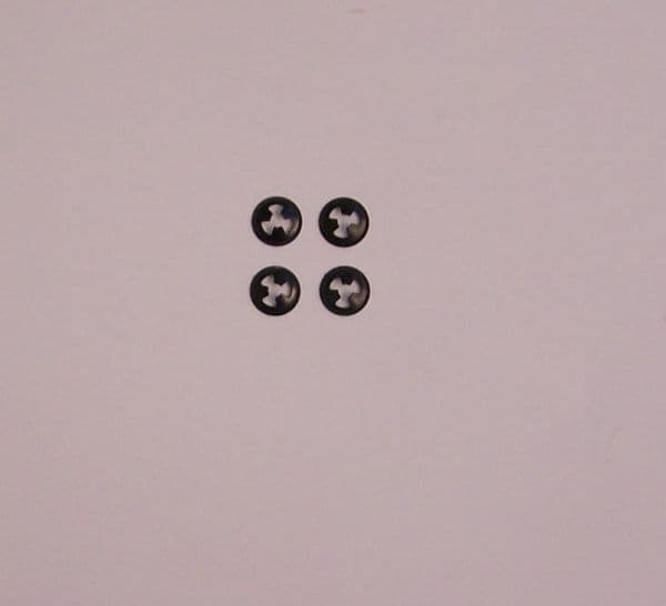 Tail gate badge clips set 4, T2 1964-1972