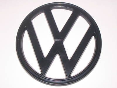 VW T2 black front badge 1973 to 1979