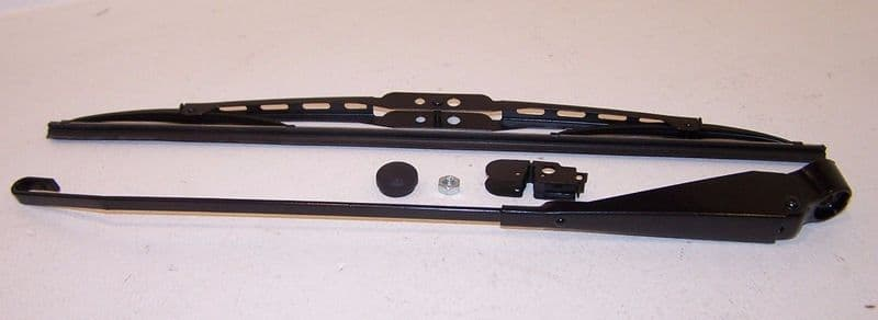 Wiper arm & blade with fittings in black for VW Type 2 1969 to 1979