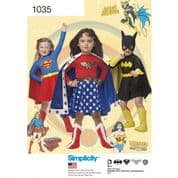 1035 Simplicity Pattern: Childs Super Hero Costume