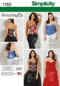 1183 Simplicity Pattern: Misses' and Plus Size Corsets