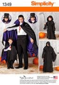 1349 Simplicity Pattern: Boys' and Men's Capes
