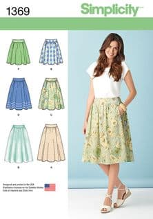 1369 Simplicity Pattern: Misses' Skirts in Three Lengths
