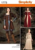 1773 Simplicity Pattern: Misses' Medieval Costume Dress