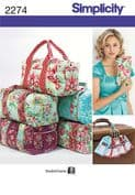 2274 Simplicity Pattern: Overnight Bags and Luggage Tags