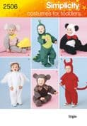 2506 Simplicity Pattern: Toddler Costumes
