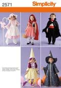 2571 Simplicity Pattern: Toddler Costumes