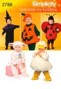 2788 Simplicity Pattern: Toddler Costumes