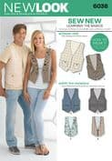 6036 New Look Pattern: Misses' and Men's Waistcoats