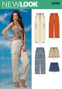 6055 New Look Pattern: Misses' Trousers and Shorts