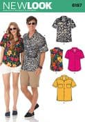 6197 New Look Pattern: Misses' and Men's Shirts