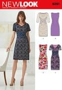 6261 New Look Pattern: Misses' Dress with Neckline Variations