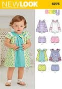 6275 New Look Pattern: Babies Dress and Pants