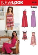 6291 New Look Pattern: Misses' Jumpsuit & Dress Each in Two Lengths
