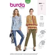 6354 Burda Pattern: Misses' Tops with Side Gather