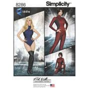 8286 Simplicity Pattern: Misses' Knit and Woven Jumpsuit and Leotard