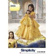 """8405 Simplicity Pattern: Child Costume and 18"""" Doll Costume"""