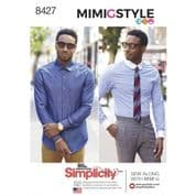 8427 Simplicity Pattern: Mens Fitted Shirt