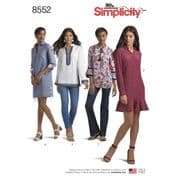 8552 Simplicity Pattern: Misses' Tunic and Dress