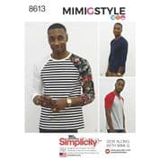8613 Simplicity Pattern: Mens Knit Top