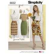 8652 Simplicity Pattern: Misses' Skirts