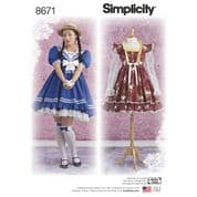 8671 Simplicity Pattern: Misses' Costumes