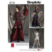 8719 Simplicity Pattern: Misses' Costumes