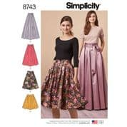 8743 Simplicity Pattern: Misses' Skirts