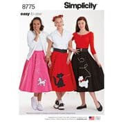 8775 Simplicity Pattern: Misses' Poodle Skirts - Easy to Sew