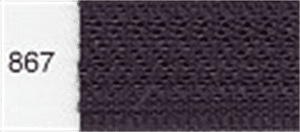 Invisible / Concealed Nylon Zipper - Colour 867 - Blackberry