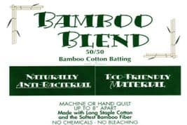 "Bamboo Blend Quilt Wadding - 90"" wide - 50% Cotton, 50% Bamboo"
