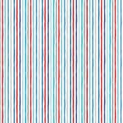 Beside the Sea 7514 - Makower 2347.WB -  Blue on White Chalky Stripe Cotton Fabric