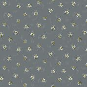 Bumble Bees 7449 - Makower 9715.C - Bumble Bees  on Grey Cotton Fabric