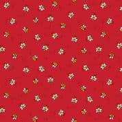 Bumble Bees 7453 - Makower 9715.R - Bumble Bees  on Red Cotton Fabric