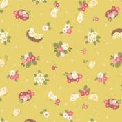 Bunny Hop - 7523 - Lewis & Irene A528.2 -  Chicks on Yellow Cotton Fabric