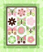 Butterfly Cot Panel or Nursery Wall Hanging - Cotton Fabric