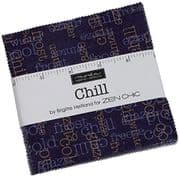 "Chill  - Charm Pack by Zen Chic for Moda Fabrics - 42 x 5"" fabric squares"