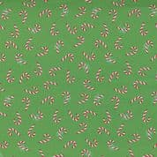 Christmas Holiday Essentials - 7785 - Candy Canes on Green  - Moda Fabrics 20743 14 - Cotton Fabric