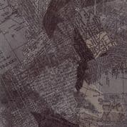 Compositions by Basic Grey - 5256 -  Maps in Charcoal on Dark Taupe - 30450 16 - Cotton Fabric