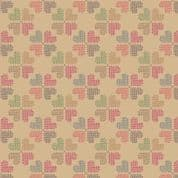 CW-B008 - Lewis & Irene Heart Clusters on Honey - Cotton Fabric