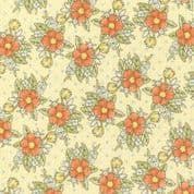 CW-B009 - Clothworks Lullaby Floral - 1807 60 Dark Butter - Cotton Fabric