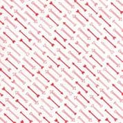 CW-H001 - Airmail - Moda Fabrics 37104.13 Red Arrows on White  - Cotton Fabric