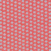 CW-H004 - Moda 1930's Playtime 32786.13 -  Blue Squares on Red - Cotton Fabric