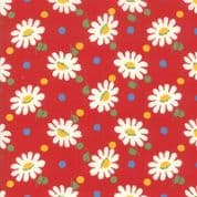 CW-H009 - Moda Bubblepop Daisies on Red - 21761.14 - Cotton Fabric