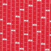 CW-H016 - Tape Measures on Red - Moda 55181.11 - Cotton Fabric